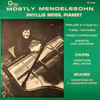 Phyllis Moss - Mostly Mendelssohn