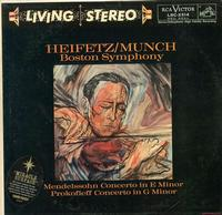 Heifetz, Munch, Boston Symphony Orchestra-Mendelssohn: Concerto in E minor etc.