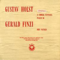 Gustav Holst and Gerald Finzi - A Choral Fantasia, etc.