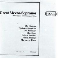 Various Artists - Great Mezzo-Sopranos