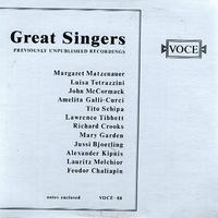Various Artists - Great Singers - Previously Unpublished Recordings