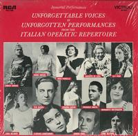 Various Artists - Unforgettable Voices In Unforgotten Performances From The Intalian Operatic Repertoire