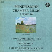 Various Artists - Mendelssohn Chamber Music Vol. III