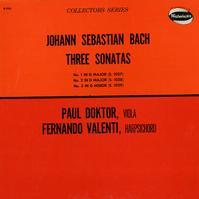 Paul Doktor, Fernando Valenti - Bach: Three Sonatas