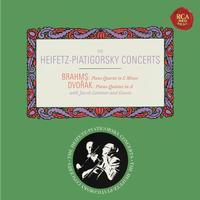 Jascha Heifetz - Brahms: Piano Quartet No. 3 in C Minor, Op. 60 - Dvorak: Piano Quintet No. 2 in A Major, Op. 81