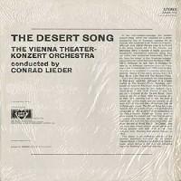 Lieder, Vienna Theater-Konzert Orchestra - Romberg: The Desert Song/U.K./stereo