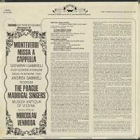 Venhoda, Prague Madrigal Singers - Monteverdi: Missa A Cappella