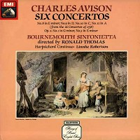Thomas, Bournemouth Sinfonietta - Avison: Six Concertos