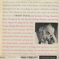 Zurich String Quartet - Toch: String Quartet & String Trio