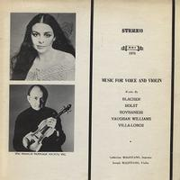 Catherine Malfitano and Joseph Malfitano - Music For Voice and Violin