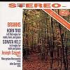 Joseph Szigeti (violin), Mieczyslaw Horszowski (piano), John Barrows (horn) - Brahms: Trio for Violin, Horn & Piano/ Sonata No. 2 -  180 Gram Vinyl Record