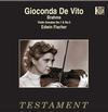 Gioconda de Vito - Brahms: Violin Sonatas No. 1 & No. 3 -  180 Gram Vinyl Record