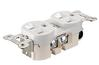 Furutech - FP-15ARN1 Audio Grade 15amp Duplex Receptacle - Rhodium -  Connectors