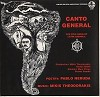 Mikis Theodorakis And Stefan Skold Conductors/ Mary Preus And Petros Pandis Soloists - Canto General The Epic Song Of Latin America -  Preowned Vinyl Record