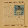Barry Miles - Fusion Is -  Sealed Out-of-Print Vinyl Record