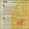UB40 - Signing Off -  Preowned Vinyl Record