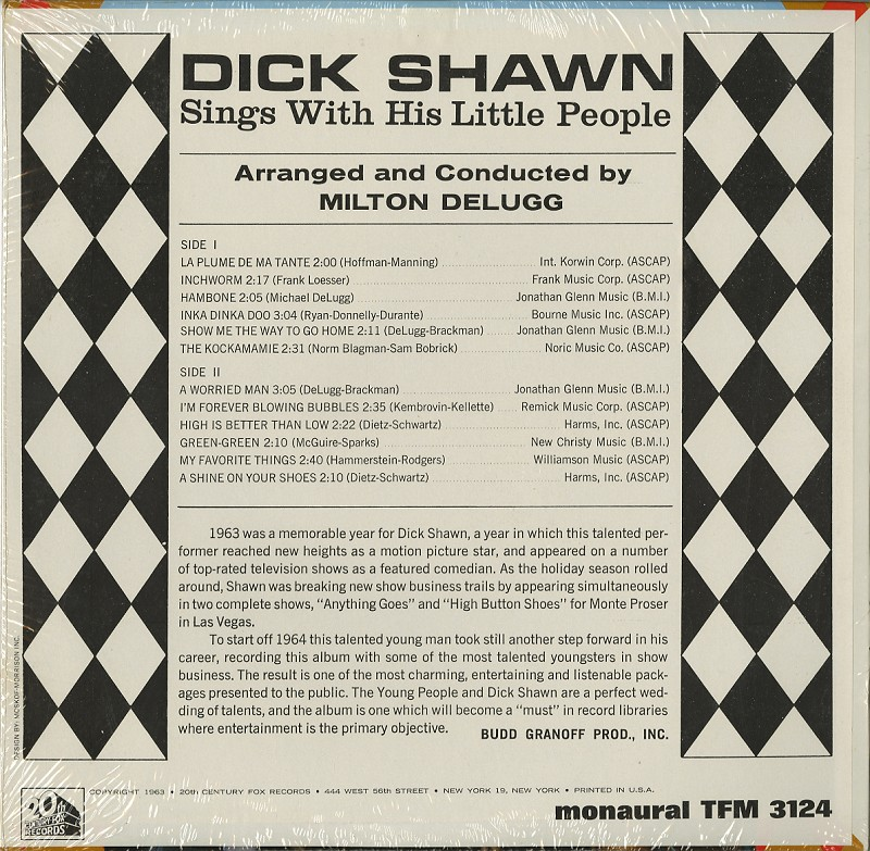 Dick Shawn - Dick Shawn Sings With His Little People